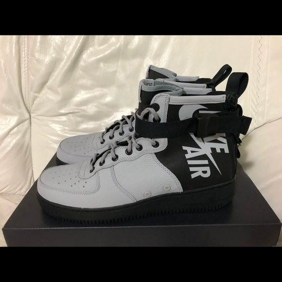 Black Grey Nwt Nike New Sf Air Mid Af1 Force One Wolf IE2WDH9